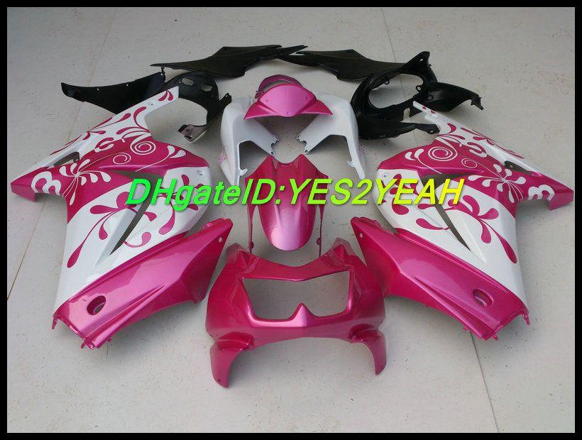 Flowers pink Fairing kit for KAWASAKI Ninja ZX250R ZX 250R 2008 2012 EX 250 08 09 10 11 12 Fairings set