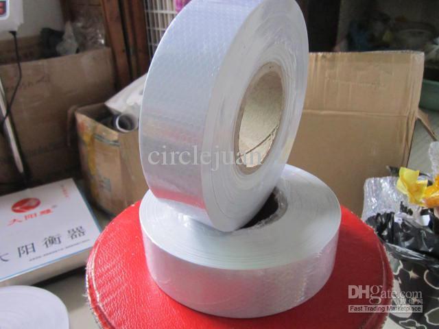 6 рулонов / лот 50 М*5 см белый или красный светоотражающий безопасности предупреждение ленты автомобиль видимости ленты