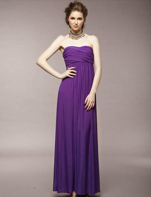Promotion Sexy Ruffle longueur de plancher de robe de demoiselle d'honneur de mariage à glissière longue robe de taille gratuite Livraison gratuite pas cher robe multicolore