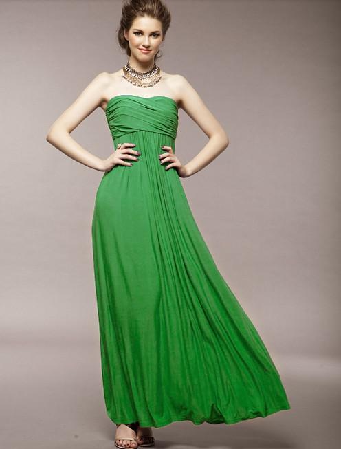 Ruffle promoção Sexy strapless vestido até o chão zipper casamento da dama de honra vestido de tamanho muito tempo livre barato o transporte livre multicolor vestido