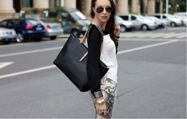 0050Hot! Gratis verzending zwart lederen mode luxe dame dames vrouwen vrouw schouder handtas tas