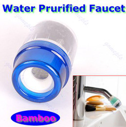 Wholesale Charcoal Water Purifier Wholesale - 50 pcs lot Home Water Purified Faucet Tap Bamboo Charcoal Double Purifier Filter Head New