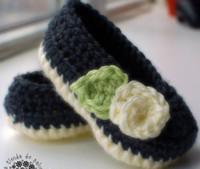 zapatos de bebé de ganchillo blanco al por mayor-¡15% DE DESCUENTO! Azul oscuro Crema blanca Crochet baby Mary Janes - Botitas de bebé, 100% algodón, primeras zapatillas walker 12pairs / 24pcs