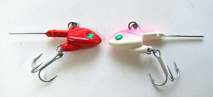 7G, 10.5G, 14G, 21G, Vissen Jig Hoofd Lood Hoofd Haak Unieke Vorm met VMC Drie Anchor Haak Drie kleuren voor zee / meren Vissen