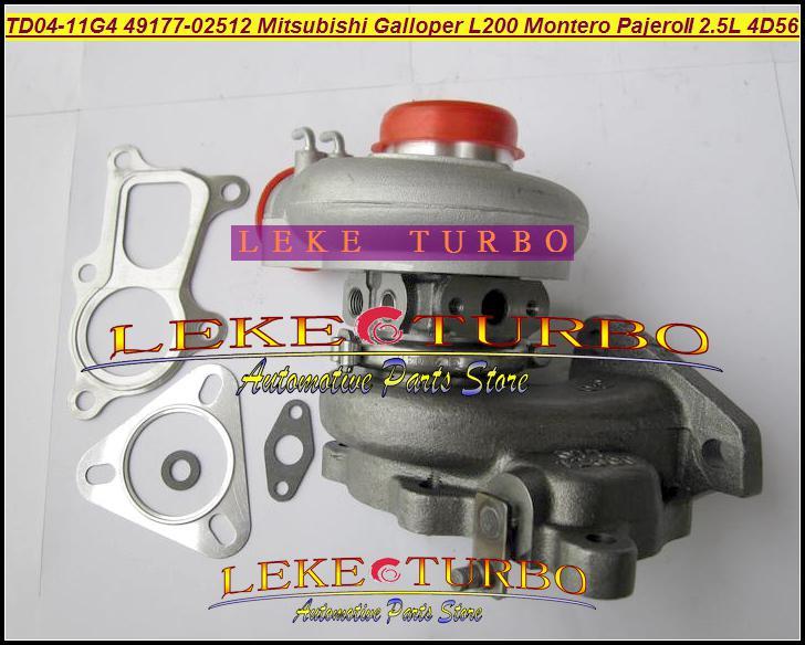 TD04-11G-4 49177-02512 28200-42540 MD170563 Turbo Mitsubishi L200 Montero Pajero II turbocompressore Hyundai Galloper 2.5L 4D56Q 4D56