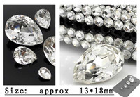 Wholesale Crafts Wholesale For Phone Cases - DIY shiny 18mm clear crystal water-drop rhinestone beads for cellphone mobile phone cases scrapbook jewelry decorations art gift craft tools