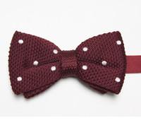Wholesale Tie Knots Bow Men Black - butterflies striped men's bow ties knitted tie knot bowtie bows neckwear E1