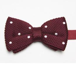 Wholesale Women Knots Bow Tie - butterflies striped men's bow ties knitted tie knot bowtie bows neckwear E1