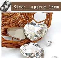 Wholesale Crafts Wholesale For Phone Cases - DIY shiny 18mm crystal clear heart rhinestone beads for cellphone mobile phone cases scrapbook jewelry decorations nail art gift craft tools