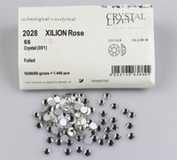 Wholesale Rhinestone 6mm Sticker - SS30 6mm Size Swarovski Crystal Hot Fix 288pcs pack Nail Art Decoration Ornamnt Beauty Tips Sticker Fashion Round Rhinestone
