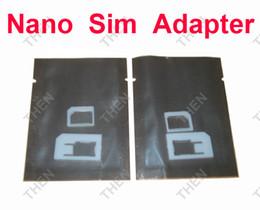 Tarjeta sim para iphone5 online-2 en 1 Nano Sim Card Adapter Plastic Nano a micro / Nano a la tarjeta sim estándar adaptador blanco para iPhone5 (12000pcs) 6000sets / lot