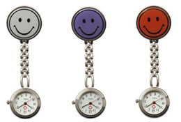 Wholesale Doctor Watch Smile - DHL UPS FedEx free shipping new Fashion Smiling doctor Watch Pocket round nurse Watch alloy Smiling watch