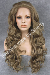 "$enCountryForm.capitalKeyWord Canada - 26"" Long #16 8 Mix Grey Brown Heavy Density Heat Safe Front Lace Synthetic Hair Wig"