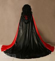 Wholesale Medieval Cape Cloak - 2017 New Hot Selling Spell color Satin Cape Cloak Medieval Renaissance Wedding Costume Custom Any colour