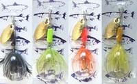 Wholesale Spinner Bait Hooks - Tied Hair 3.5g Spinner Bait Meta lBait Fishing Lures buzz bait China Hook Tied Hair 3.5g