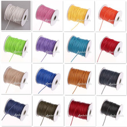 Wholesale 2mm Waxed Cotton Cord - Free Shipping EMS 5 Pcs lot Hot Sale 2mm Waxed Cotton Cord 85 Meters Spool Mix Colors Jewelry Findings For Jewelry Making