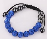Wholesale Clay Diamond Balls Wholesale - 2013hot European and American fashion jewelry Shamballa bracelets wholesale the 11 diamond ball beaded bracelet