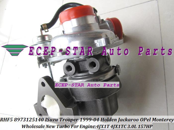 RHF5 8973125140 8971371095 8971371096 8971371097 VC430015 Turbo Turbocharger For ISUZU Trooper HOLDEN Jackaroo OPEL Monterey 4JX1T 4JX1 3.0L