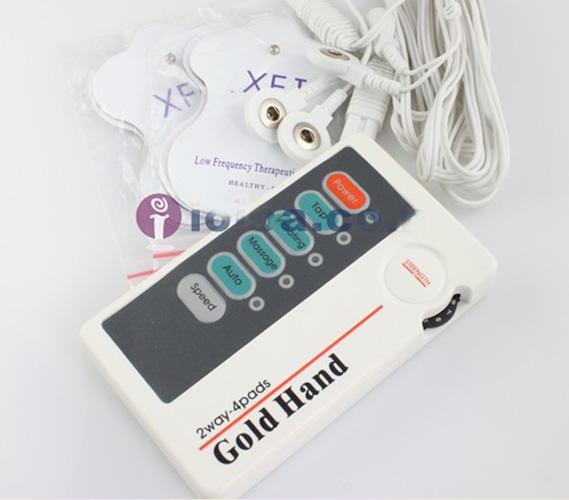 LOW FREQ MASSAGE MINI massager with 4 Pads TENS MACHINE Cervical body massager MINI Massage machine