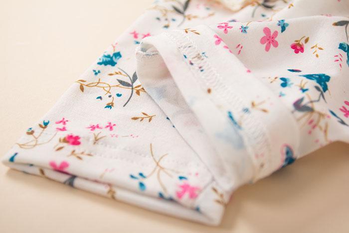 Nouveaux enfants filles fleur papillon décoratif timbre longue frontière leggings mince collants pantalon pantalon bleu primaire KZ82 rouge