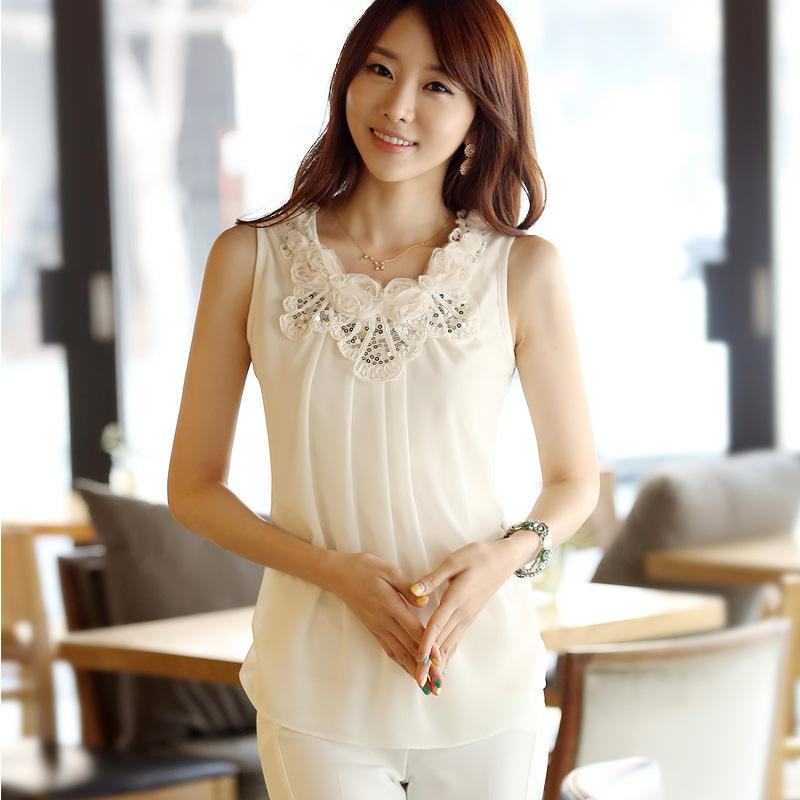 2018 Fashion New Summer 2013 Women Silk Blouse/G102 ...