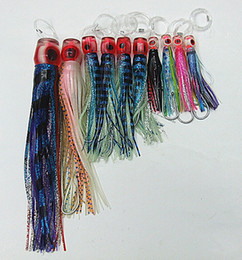 lures soft trolling Australia - Fishing Lure Octopus Skirt Bait Game Lures Tuna lures Trolling Fishing lure Soft Bait Hook line Suite PP soft head lure three size