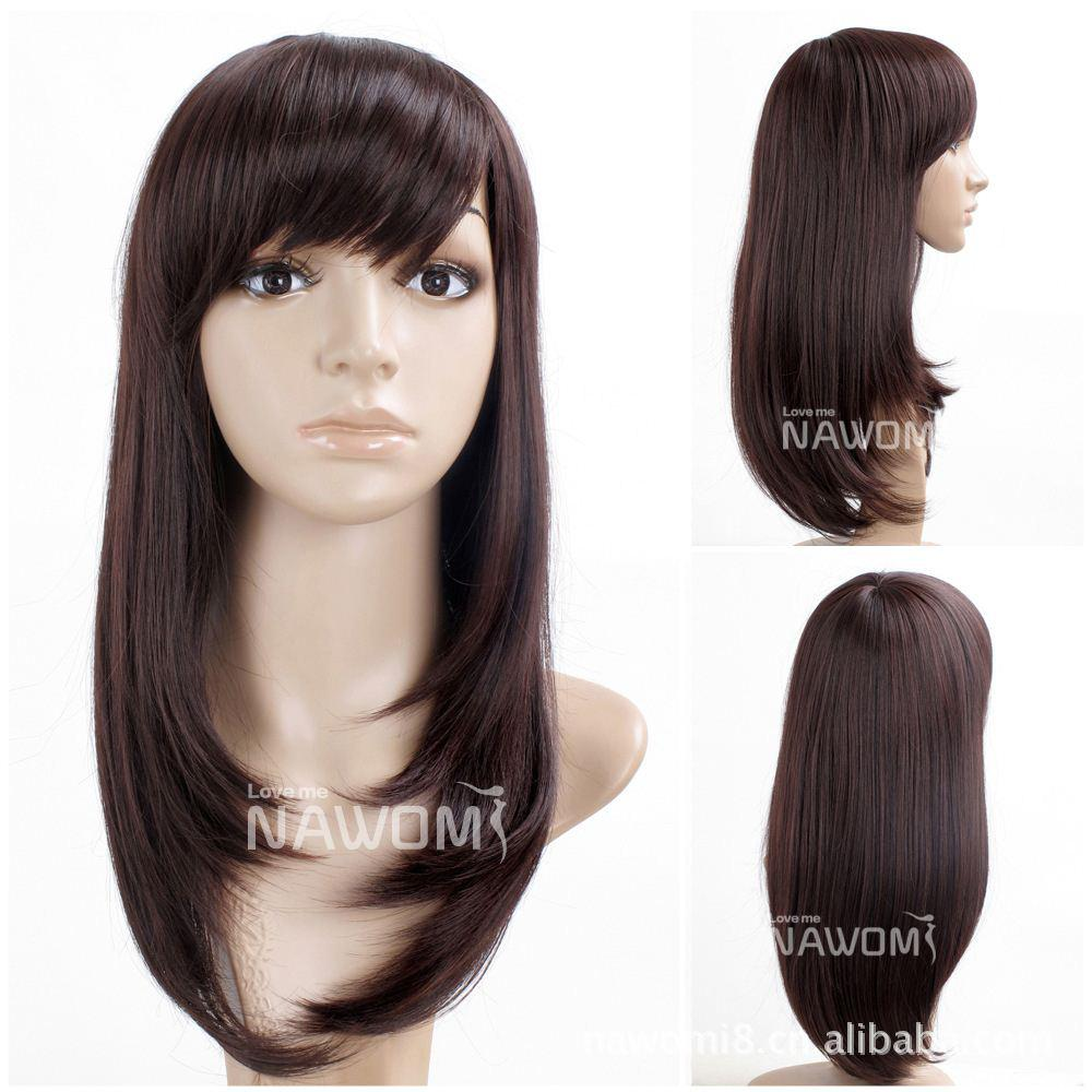 Supply Japanese Chestnut Color Long Hair Qi Liu Straight