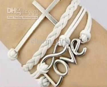 30 stks / partij mode 5 stijl bedelarmband echt koe lederen armband Goedkope sieraden