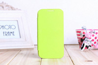 Wholesale S4 Flip Case Battery Cover - Battery Housing Leather Case For Samsung Galaxy S4 I9500 SIV Back Cover Flip, 10 colors with Retail Box in stock Free shipping 1pcs