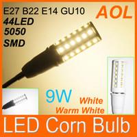Wholesale E14 44 Led - High Quality LED Corn Light Bulb E27 E14 B22 5050 SMD 44 LED White,Warm White LED Screw Corn Light Bulb Lamp