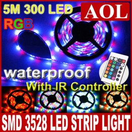 Wholesale Free Horse Racing - 10m 300LED 3528 LED Strip lighting Waterproof RGB 60LED M horse race lamp + 24 Key Free IR Remote