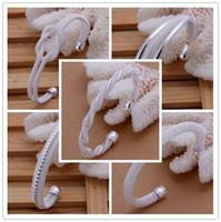Wholesale Silver Bangle Mesh Cuff - Mixed Order 925 Sterling Silver Plated Mesh Net Cuff Bracelets Bangle #BA113