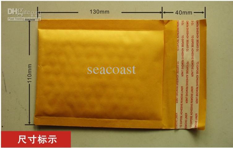 Prezzo più basso / Trasporto libero-kraft busta Busta a bolle antiurto 110 * 130mm