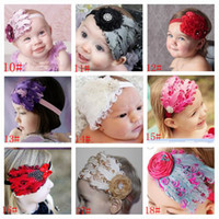 Wholesale Baby Girl Hair Bands Feathers - Baby Amour 2013 New Design Feather Headbands Christmas Hair Band Girl Hair Accessories Flower Hairbands