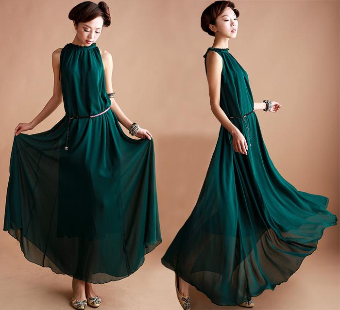 233836707 Sexy Women Sleeveless Chffon Dress Maxi Dresses Sundress Elegance Formal Evening  Party Full Dress Canada 2019 From Sunny315