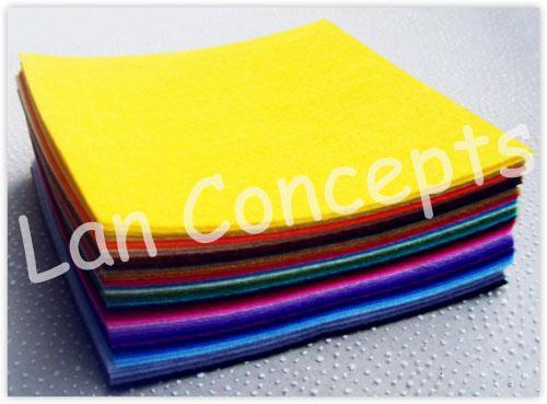 Spedizione gratuita fai da te poliestere tessuto feltro tessuto non tessuto lavoro artigianale i tra cui scegliere - 300x300x1mm 49 pz / lotto LA0076