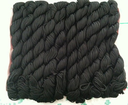 Wholesale Wholesale Chinese Knotting Cord - New Nylon Cord Thread Chinese Knot Macrame Shamballa Bracelet String 2mm black