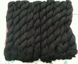 Wholesale Nylon Knot Macrame Cord - New Nylon Cord Thread Chinese Knot Macrame Shamballa Bracelet String 2mm black