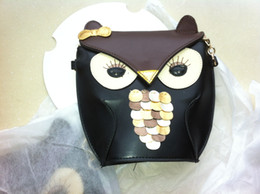 Wholesale Pu Leather Owl Purses - Fashion Luxury women owl cartoon PU leather bag Cross body OWL shoulder bags handbag totes purse wallets drop shipping