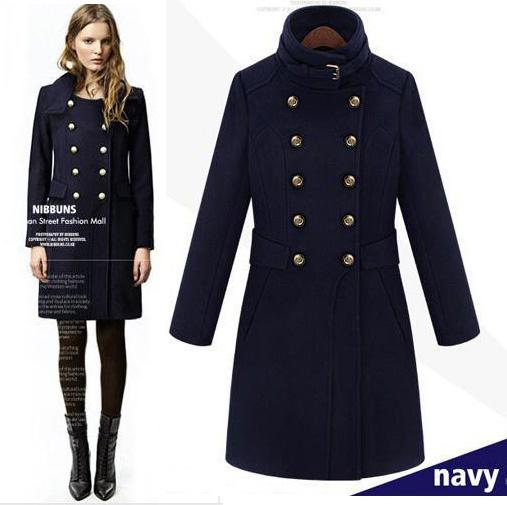 2017 Fashion Handsome Women Uniform Buckle Trench Coat Military ...