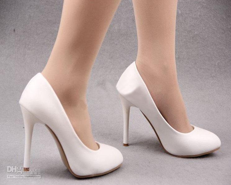 2013 Fashion Black White Dress Shoes Wedding Shoes High Heels ...