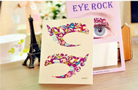 Wholesale double eye sticker - 50pairs Eye Shadow Sticker Decal Double Eyelid Makeup Tools Cosmetic Products Free Shipping