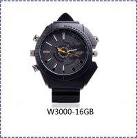 Wholesale Hk Vision Camera - HK POST Free Shipping W3000 New spy Watch Camera,Watch Video, 1080p HD Mini dvr Recorder IR Night Vision Waterproof (16GB)