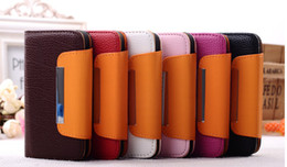 Wholesale Galaxy S3 Cases Leather Id - 100pcs best price PU Leather wallet ID card Case Pouch back Cover for Samsung Galaxy S3 I9300