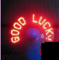 Ventilateurs programmables en Ligne-Gratuit 100pcs / lot message clignotant Mini ventilateurs de ventilateur programmable LED - cadeau de nouveauté !! Cadeaux mignons !!