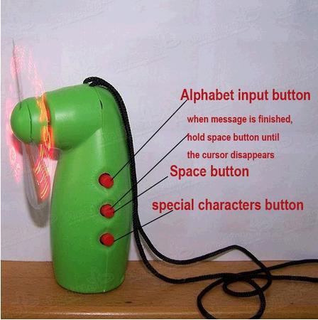 Free / Messaggio lampeggiante LED Mini fan programmabili fan dei fan - Regalo novità !! Regali carini !!
