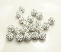 Wholesale Disco Ball Metals - DIY hot sell 10mm Rhinestone Pave Disco ball Shamballa Crystal beads CPAM free 50 piece lot
