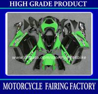 kawasaki zx6r yarış toptan satış-Kawasaki Ninja ZX-6R 2007 2008 için yarış kaporta kiti ZX 6R 2007 2008 ZX6R 07 08 siyah yeşil motosiklet vücut çalışması RX1z