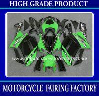 zx6r гоночные обтекатели оптовых-Гоночный обтекатель комплект для Kawasaki Ninja ZX-6R 2007 2008 ZX 6R 2007 2008 ZX6R 07 08 обтекатели зеленый черный мотоцикл кузовные работы RX1z