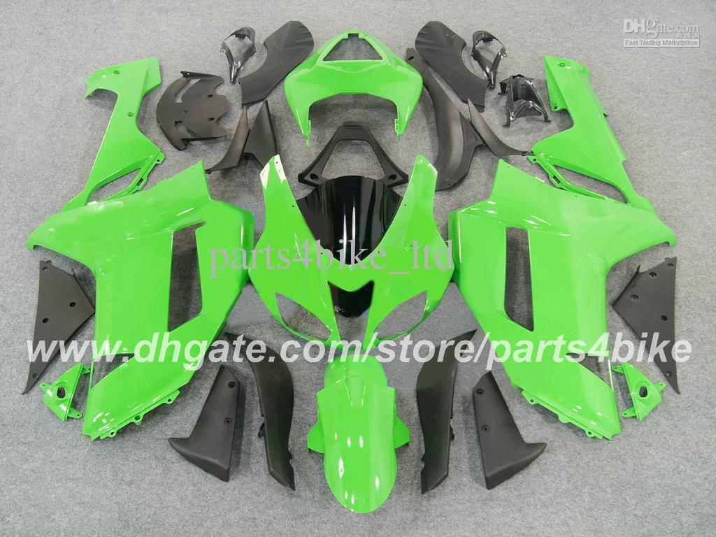 Kit de carenagem de plástico ABS para Kawasaki Ninja ZX-6R 2007 2008 ZX 6R 2007 2008 ZX6R 07 08 carenagem verde preto carroçaria peças da motocicleta RX6z